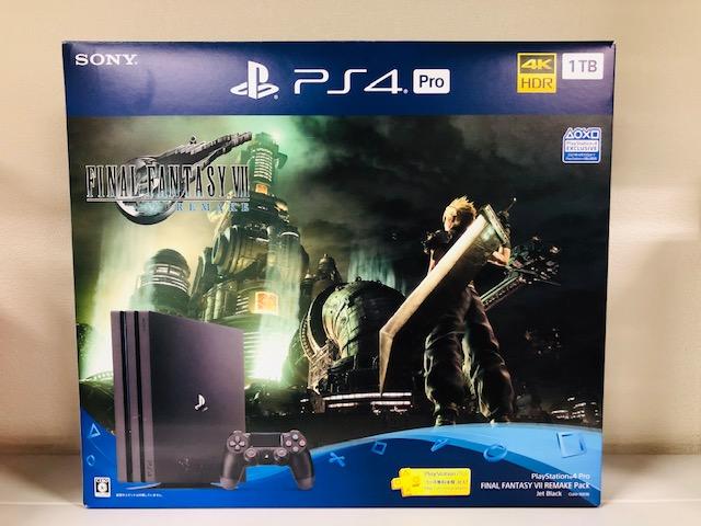 買取商品:PlayStation4 Pro 1TB FINAL FANTASY VⅡ REMAKE Pack