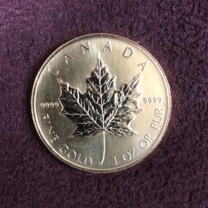 カナダ メイプルリーフ金貨 1オンス K24