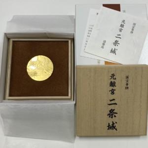国宝章牌 元離宮 二条城 純金 記念メダル