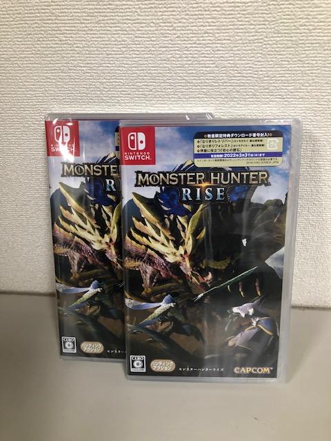 買取商品:【新品未開封】Nintendo Switch ソフト モンスターハンターライズ