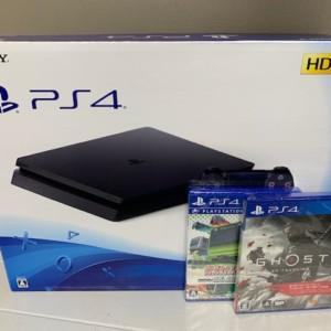 【中古美品】PlayStation4 500GB ジェットブラック + ソフト