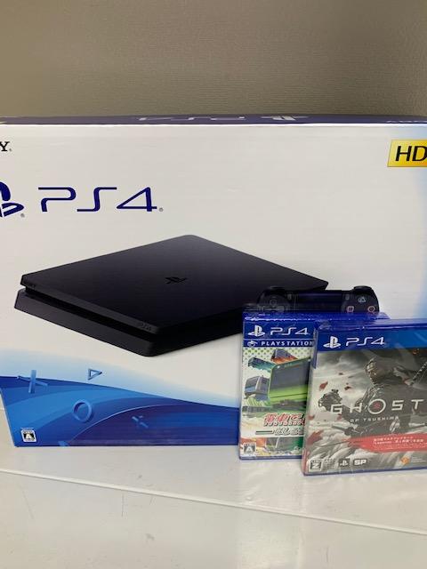 買取商品:【中古美品】PlayStation4 500GB ジェットブラック + ソフト