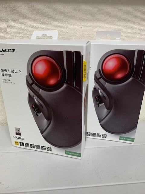 買取商品:【新品未開封】8ボタン搭載 大玉トラックボール マウス 2点