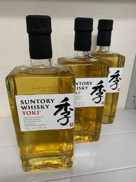 買取商品:サントリーウイスキー 季(トキ) 3本
